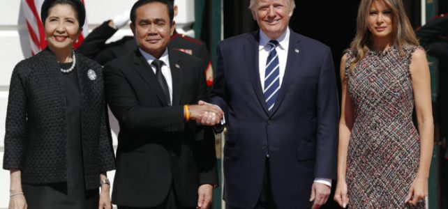 Donald Trump, Melania Trump, Naraporn Chan-ocha, Prayuth Chan-ocha